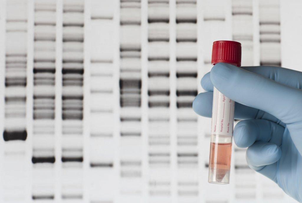 Образец ДНК в пробирке
